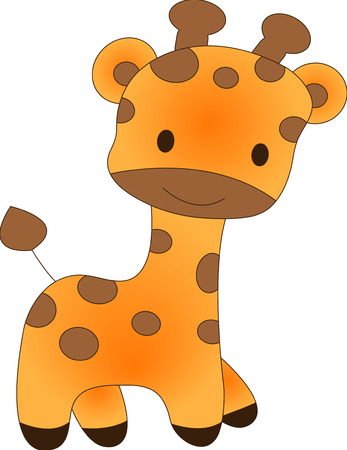 Funny Giraffe - Vektor-Illustration. Voll editierbar, einfach Farbe ändern. Standard-Bild - 4141862