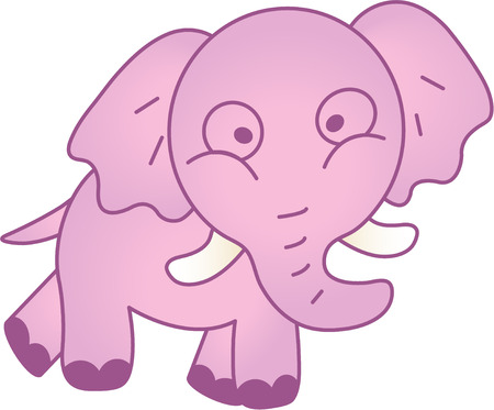 Funny elephant - vector illustration. Fully editable, easy color change. Stock Vector - 4141851