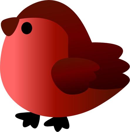 Funny bullfinch - vector illustration. Fully editable, easy color change. Vector