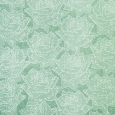 Beautiful green abstract paper roses background photo