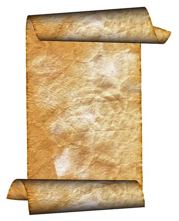 Vintage grunge rolled parchment illustration with ragged borders (natural paper texture) Stock Illustration - 4167572