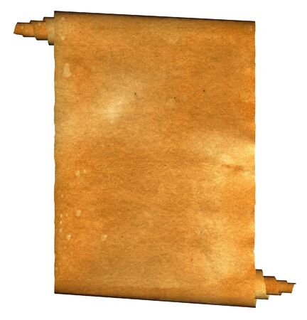ragged: Vintage grunge rolled parchment illustration with ragged borders Stock Photo