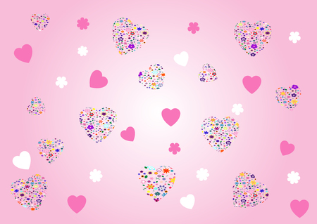 Valentines abstract  background - vector illustration. Fully editable, easy color change