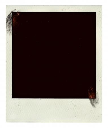 Vintage empy polaroid foto met ingerprint geïsoleerd op een witte
