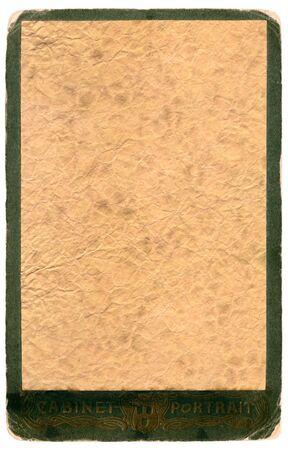Vintage album photo frame isolated on a white Stock Photo