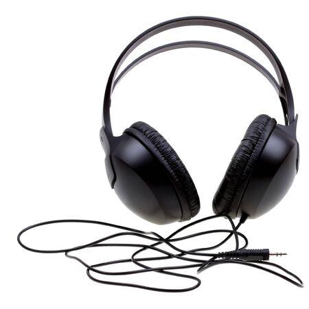 Headphones isolated on white background photo