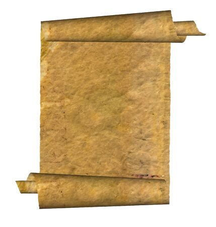 yellowish: Vintage grunge rolled parchment illustration with ragged borders (natural paper texture) Stock Photo