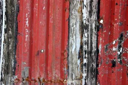 Grunge metal fence texture to background photo