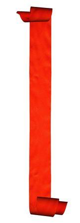 room accents: Abstract nastro rosso isolato su sfondo bianco