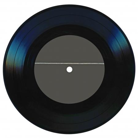 Vintage vinyl record geïsoleerd op witte achtergrond