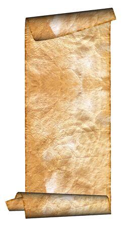 Vintage grunge rolled parchment illustration (natural paper texture) illustration