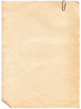 quemado: Vintage textura de papel viejo con clip a fondo