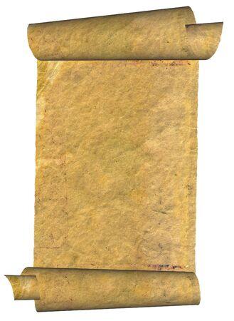 Vintage grunge rolled parchment illustration (natural paper texture) Stock Illustration - 4698961