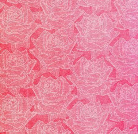 Beautiful abstract paper roses to background photo