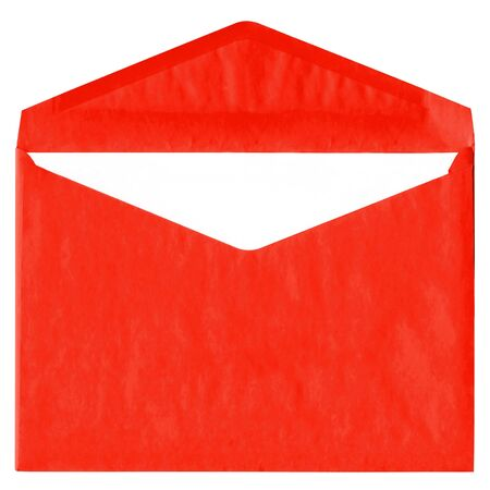 Red vintage envelope isolated on white background Stock Photo - 4741682