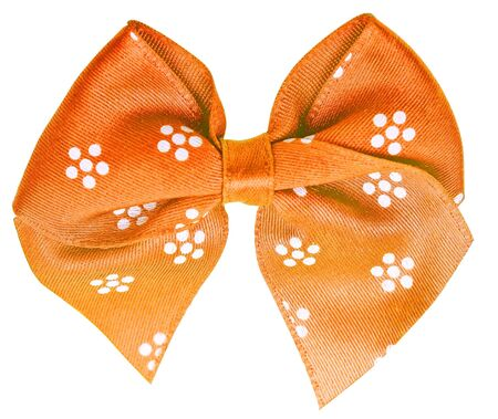 festal: Orange festa prua isolato su sfondo bianco Archivio Fotografico
