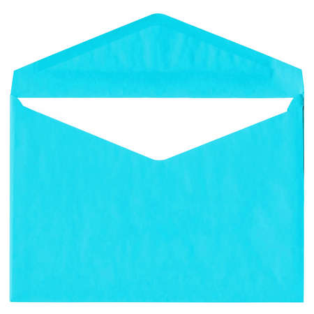 Cyan vintage envelope isolated on white background Stock Photo - 4784898