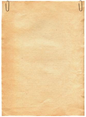 Vintage starego papieru tekstury z klipsem na tle