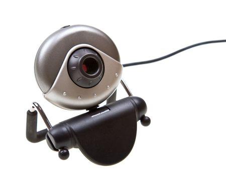 Kamera wyizolowanych na białym tle