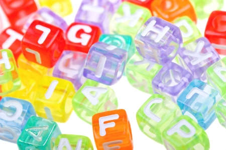 Abstract colourful alphabet blocks to background Stock Photo - 4904388