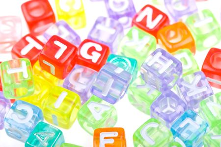 Abstract colourful alphabet blocks to background Stock Photo - 5074117