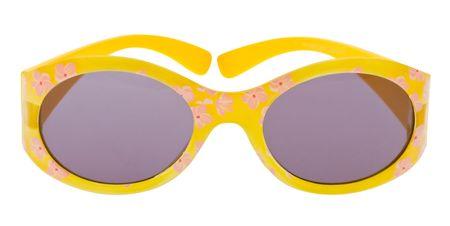 Funny sunglasses isolated on white background photo