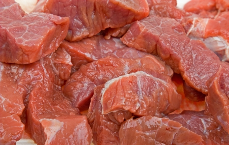 Close-up fresh natural meat background