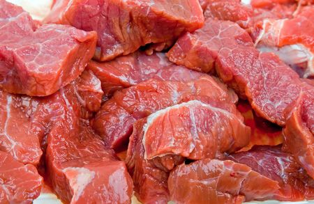 Close-up fresh natural meat background photo