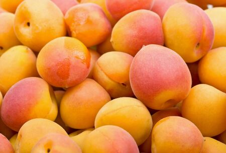 Fresh natural apricot to background Stock Photo