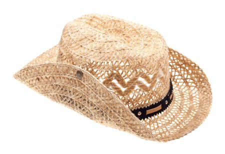stetson: Stetson, straw hat  of cowboy isolated on white background