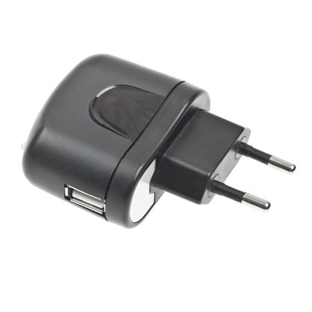 Close-up usb electric charger plug isolated on white background photo