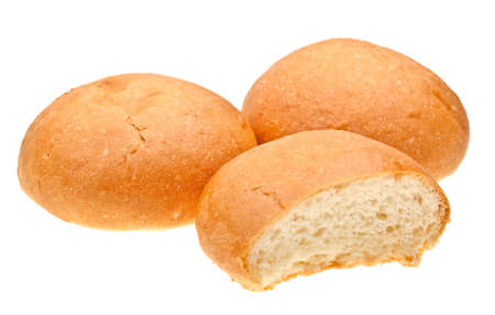 Bread rolls isolated on white background Stock Photo - 6802451