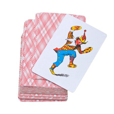 Playing cards isolated on a white background Stock Photo - 6802502