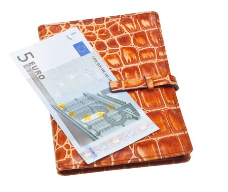 Wallet filled with money isolated on white background Stock Photo - 6802782