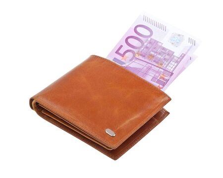 Wallet with money isolated on white background Stock Photo - 6802493