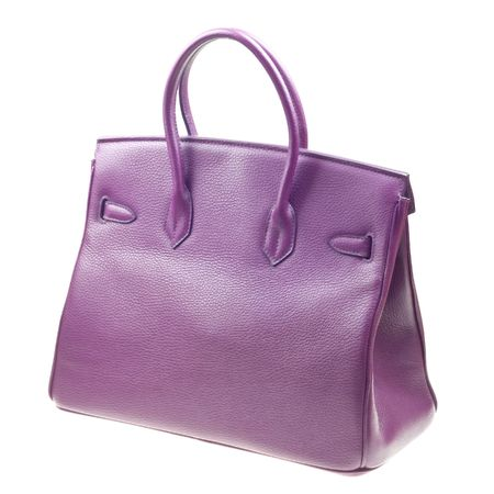 Purple woman bag isolated on the white background Stock Photo - 6802835