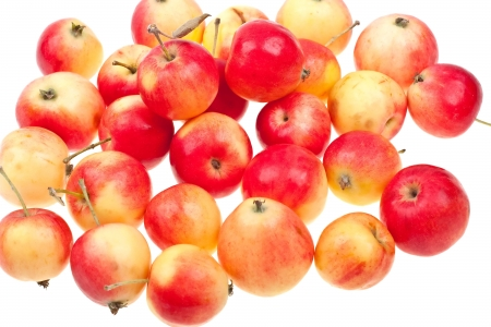 Fresh natural apples background Stock Photo