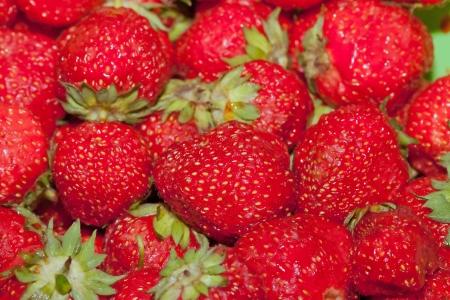 Fresh strawberries background Stock Photo - 6883713