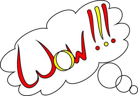 spain flag: Wow (comic cloud - Spain flag)