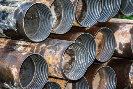 metal pipes: Metal pipes Stock Photo