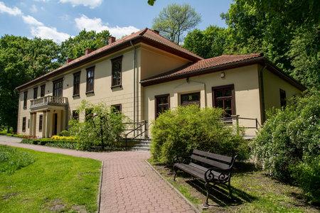 poland: Building in Krzeszowice Poland
