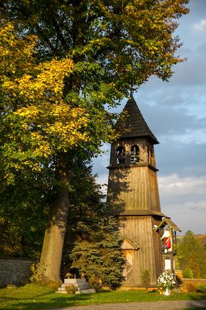 belfry: Pacztowice wooden belfry in Poland Stock Photo