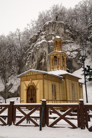 vaderlijk: Kapel op het Water in Ojcow National Park Polen