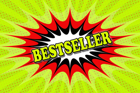 bestseller: Inscription Bestseller in pop art style