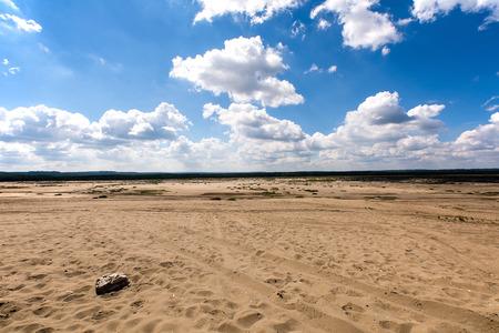 poland: B??dowska Desert in Poland Stock Photo