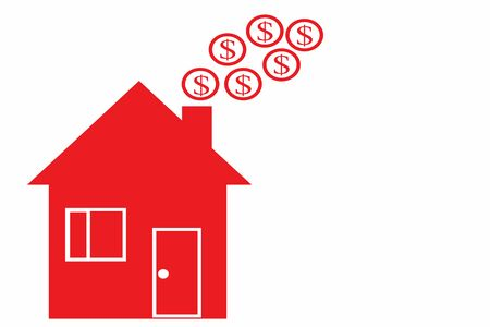 Huis met rook geld