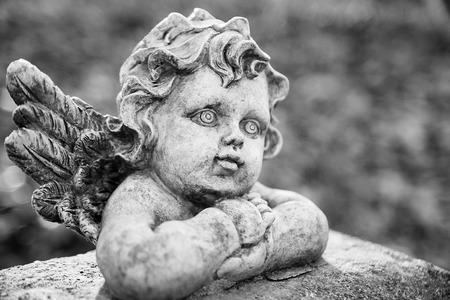Guardian Angel on the cemetery in Boleslaw (Poland) Stock Photo