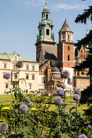 Wawel Cathedral at Wawel Castle in Krakow (Poland)