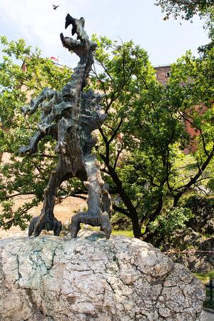 articles: Wawel Dragon in Krakow (Poland) Stock Photo