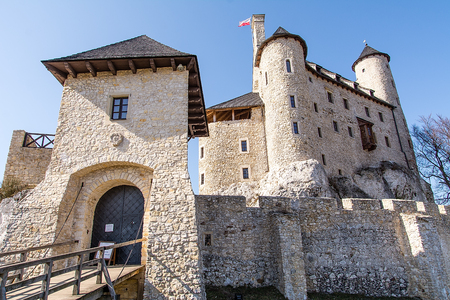 Castle in Bobolice (Poland) from the half of the 14th century, by the king Casimir the Great. The fortress was completely rebuilt and reconstructed from 2002-2011. Editorial